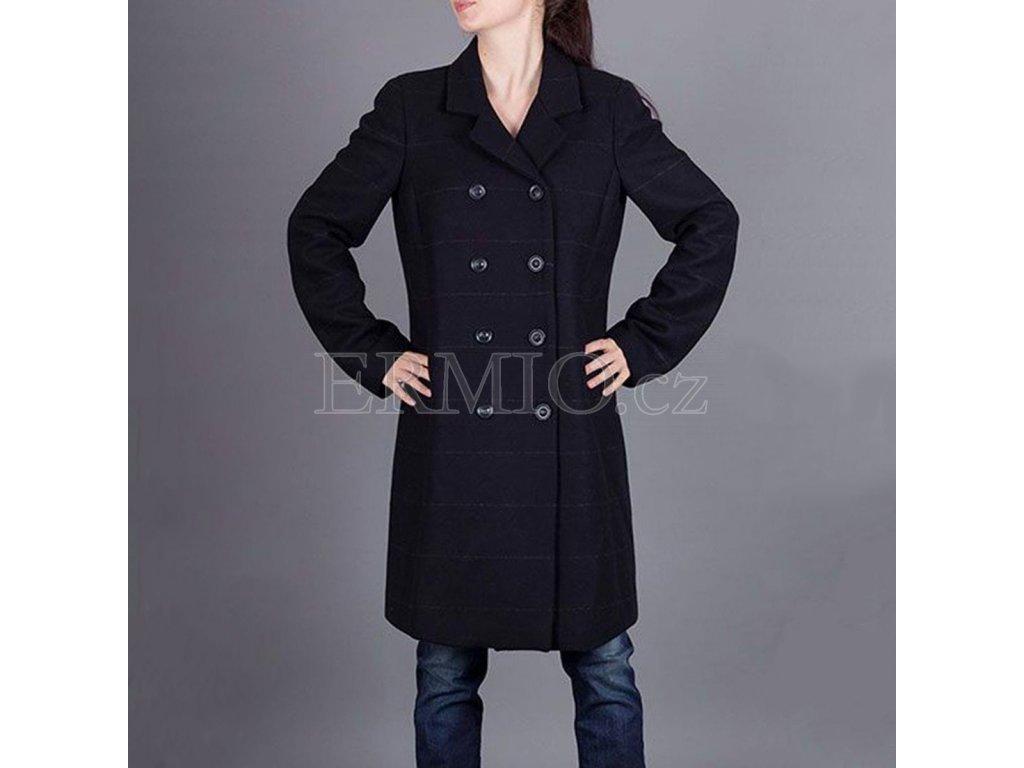 Dámský tmavě modrý kabát Armani Jeans