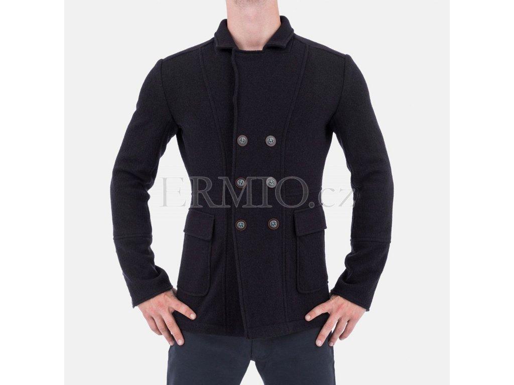 Tmavě modrý pánský kabát Armani