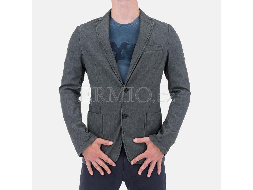 Značkové šedé sako Armani