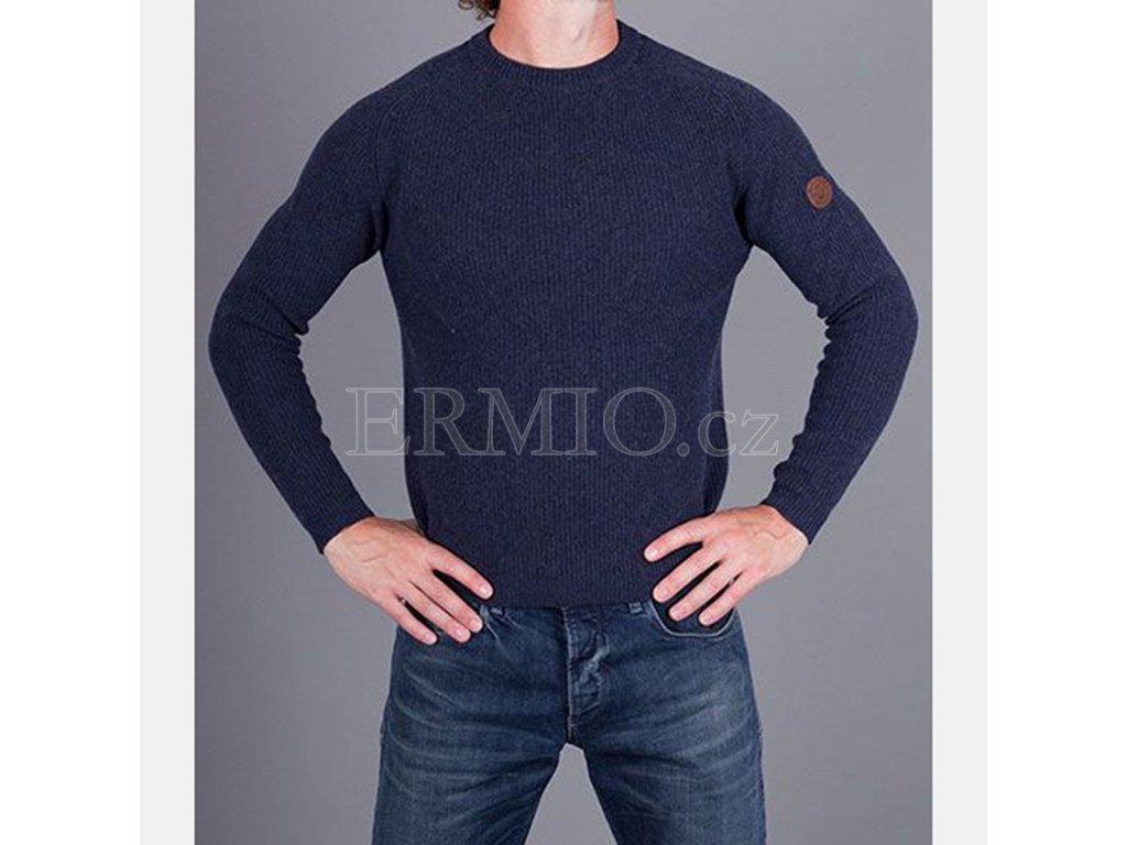 Značkový tmavě modrý svetr Armani