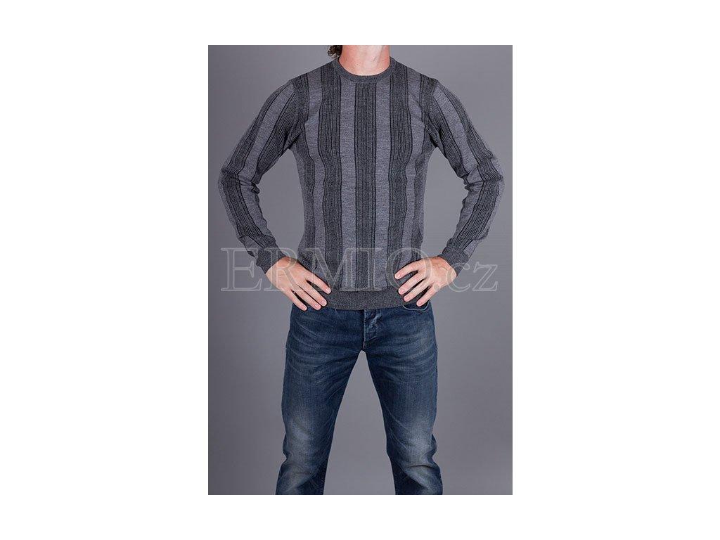 Luxusní šedý pánský svetr Armani