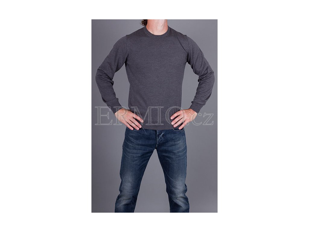 Tmavě šedý svetr Armani Collezioni