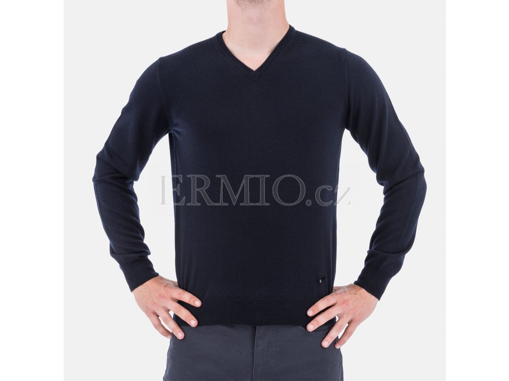 Tmavě modrý pulovr Armani