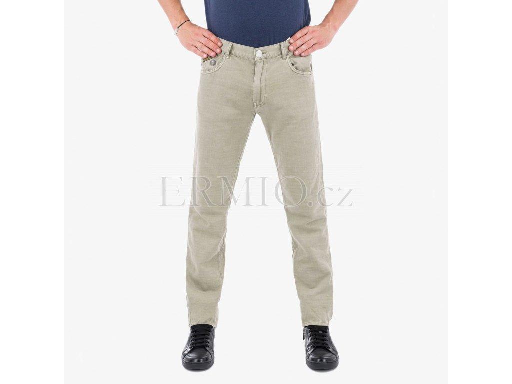 Značkové šedobéžové pánské rifle Armani Jeans