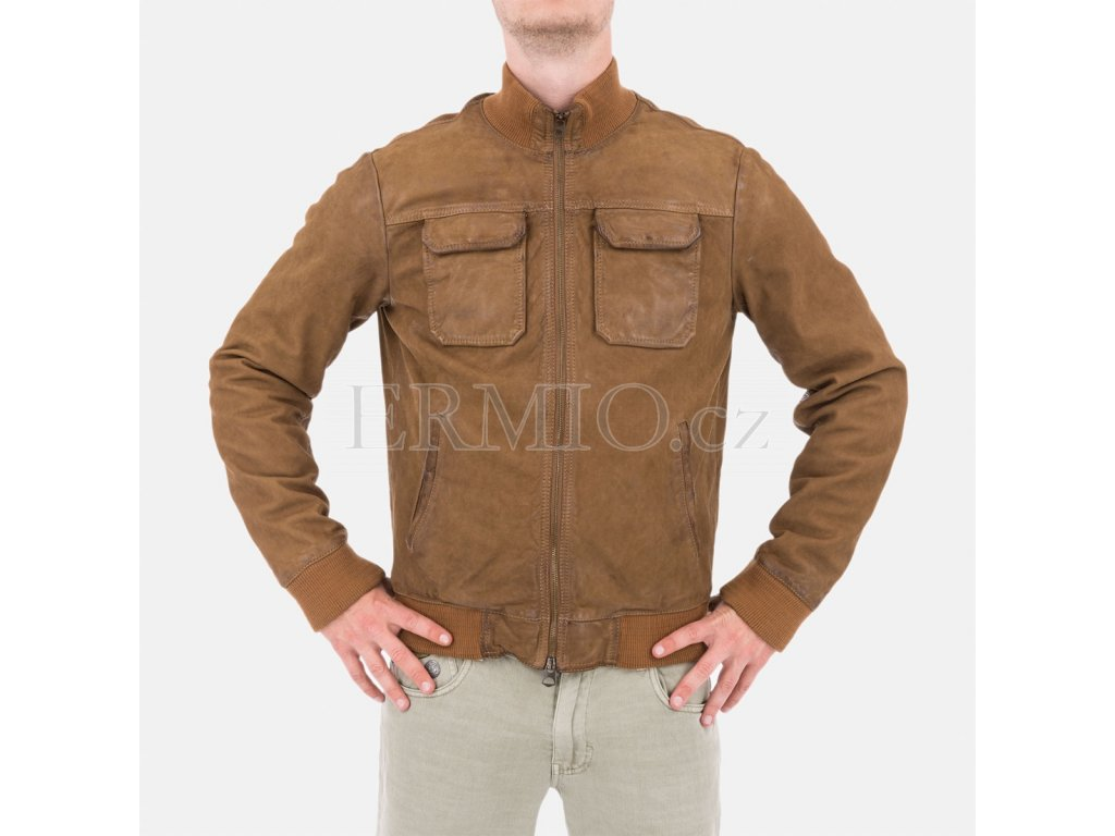 Pánská kožená bunda Armani