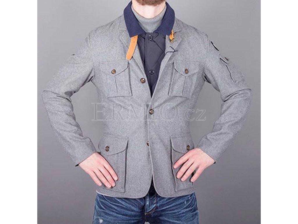 Pánský zimní kabát AJ šedý
