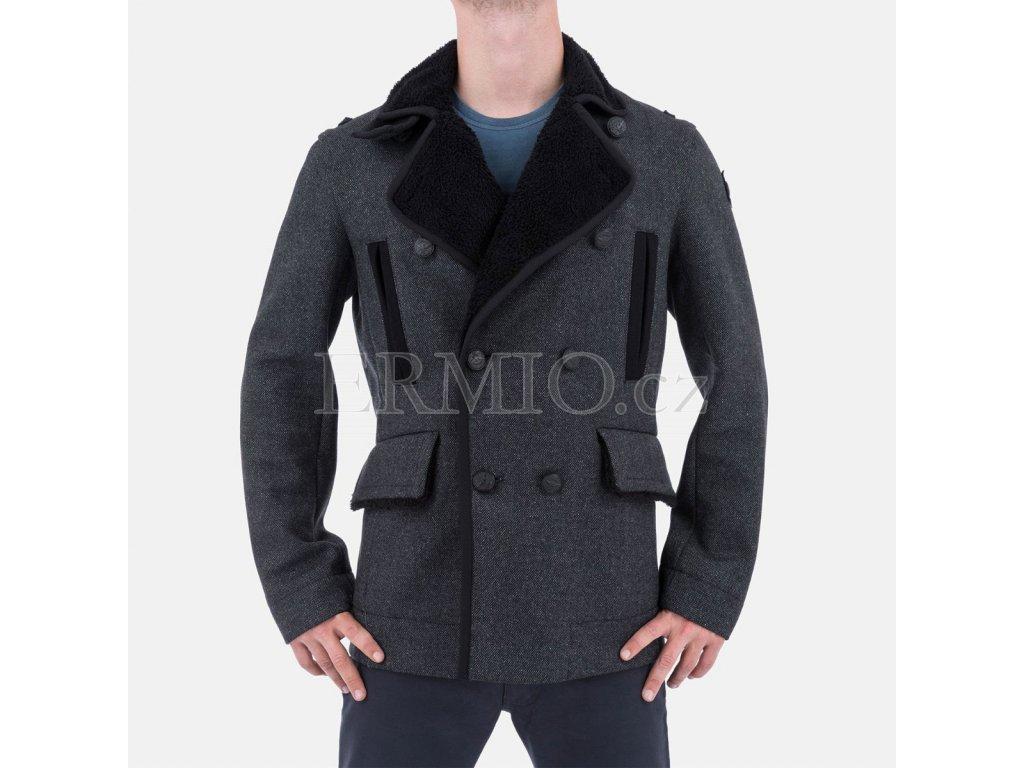 Pánský zimní kabát Armani šedý