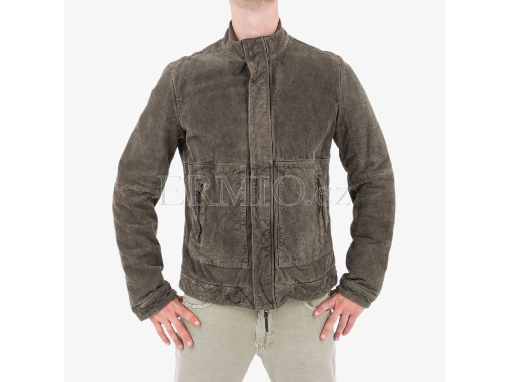 Luxusní zimní kožená bunda Armani