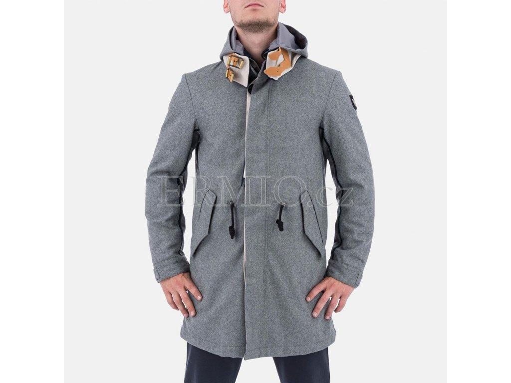 Moderní pánský šedý kabát Armani