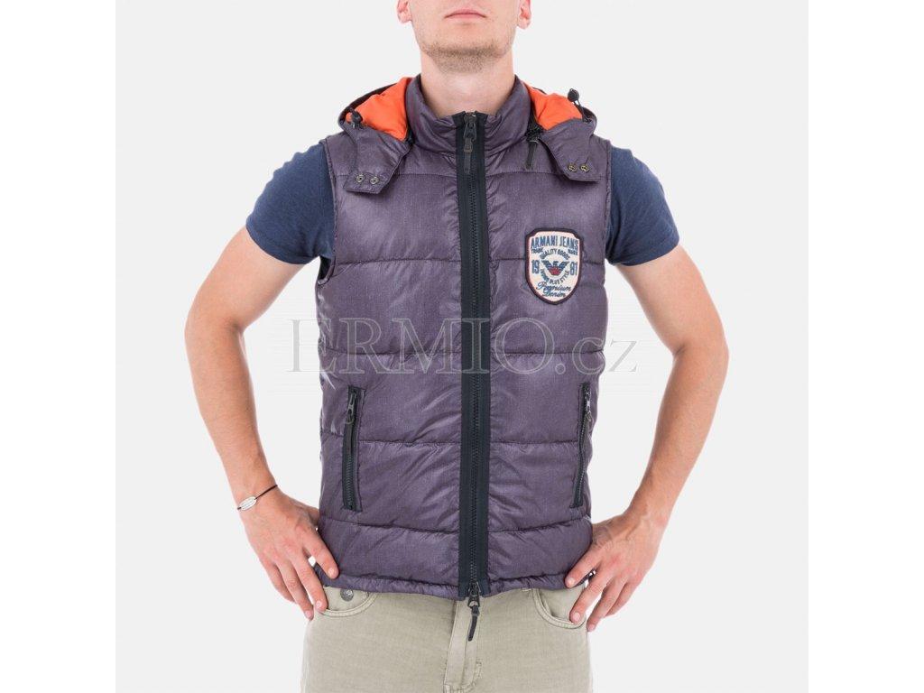 Značková pánská vesta Armani s kapucí