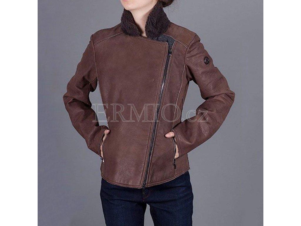 Kožená hnědá bunda Armani