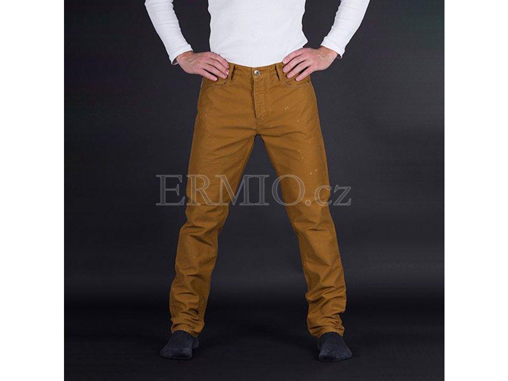 Značkové hnědé pánské rifle Armani Jeans
