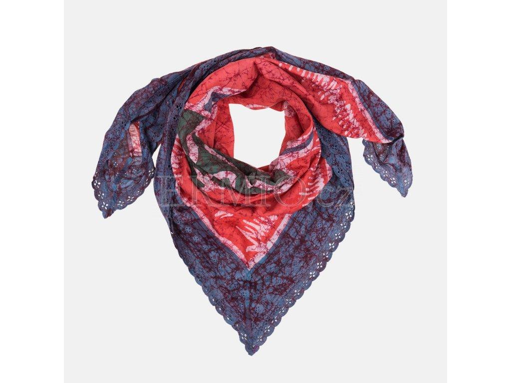 Nádherný dámský šátek Vivienne Weswood červenomodrý