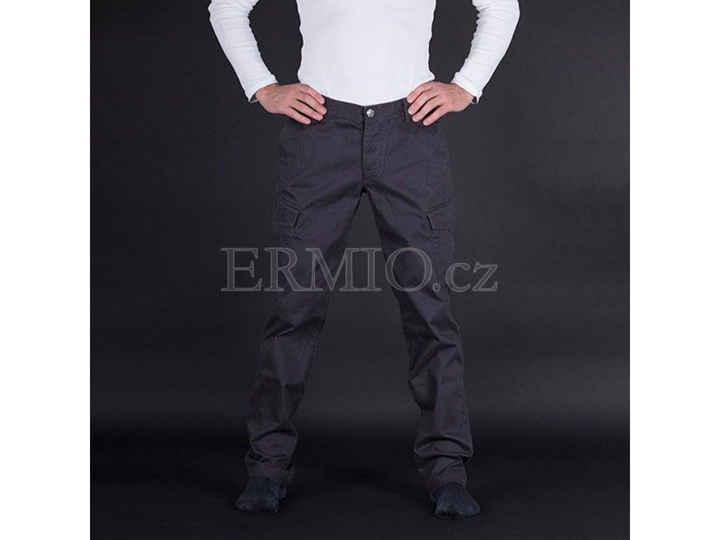 Pánské šedé značkové kalhoty Armani