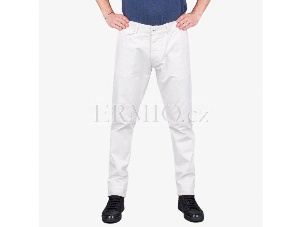 Stylové pánské krémové kalhoty Armani Jeans