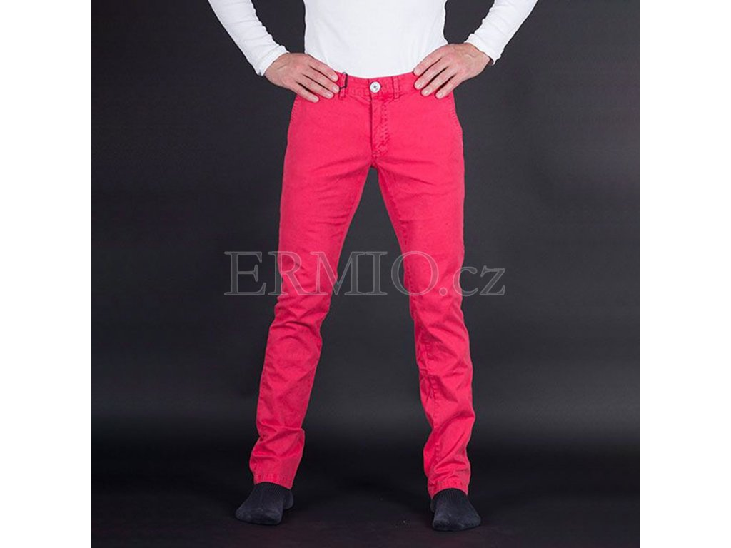 Luxusní Nádherné pánské růžové kalhoty Armani Jeans v e-shopu ... 3de9b3abc7