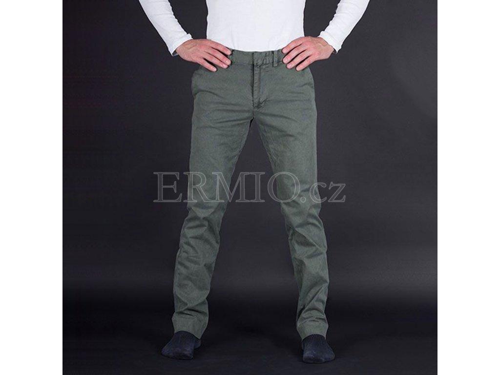 Stylové pánské zelené kalhoty Armani Jeans