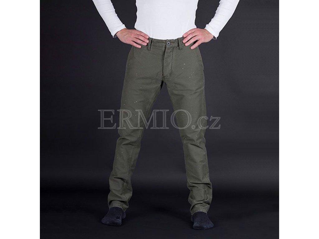 Značkové pánské zelené kalhoty Armani Jeans
