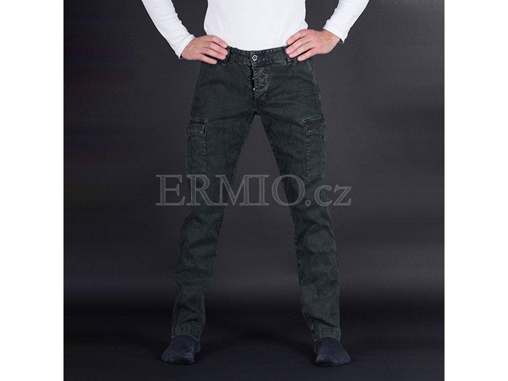 Luxusní pánské zelené kalhoty Armani Jeans