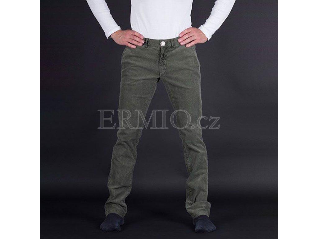 Elegantní zelené pánské kalhoty Armani Jeans
