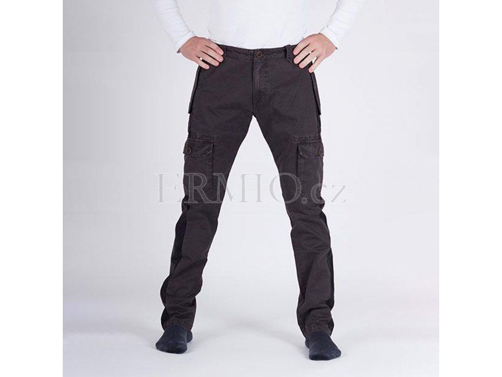 Značkové pánské hnědé džinové kalhoty Armani Jeans