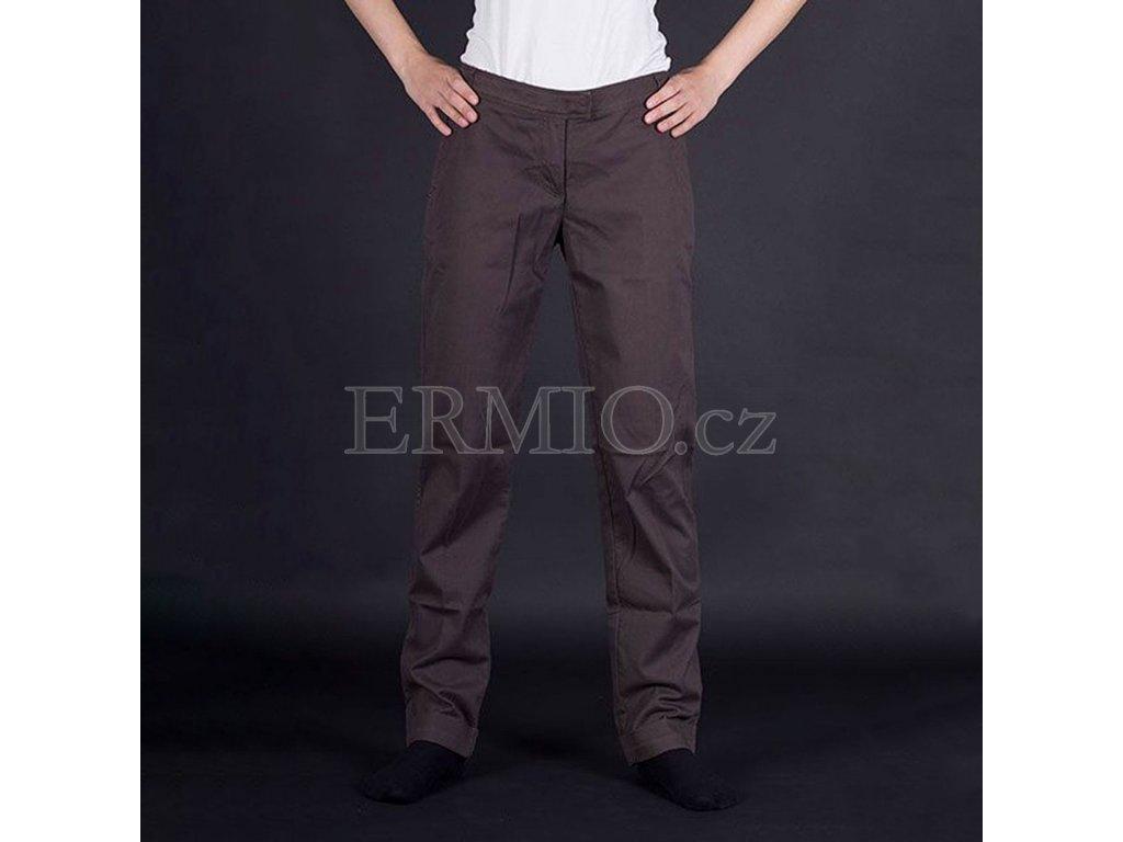 Dámské značkové hnědé kalhoty Armani