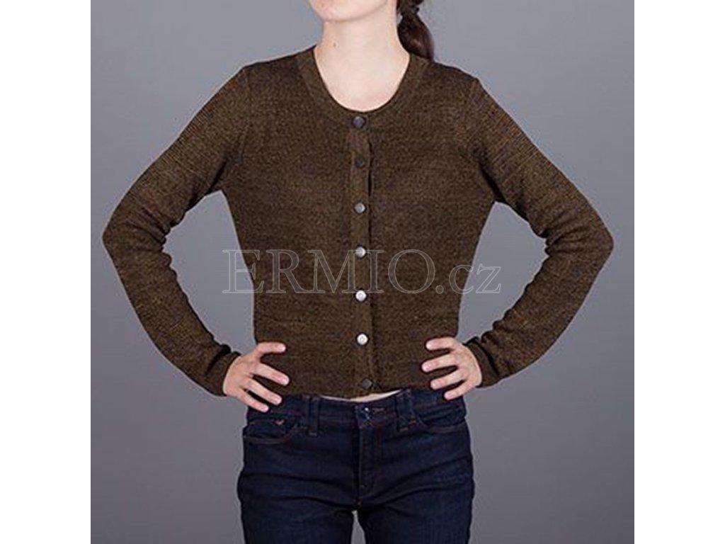 Dámský hnědý značkový svetr Armani