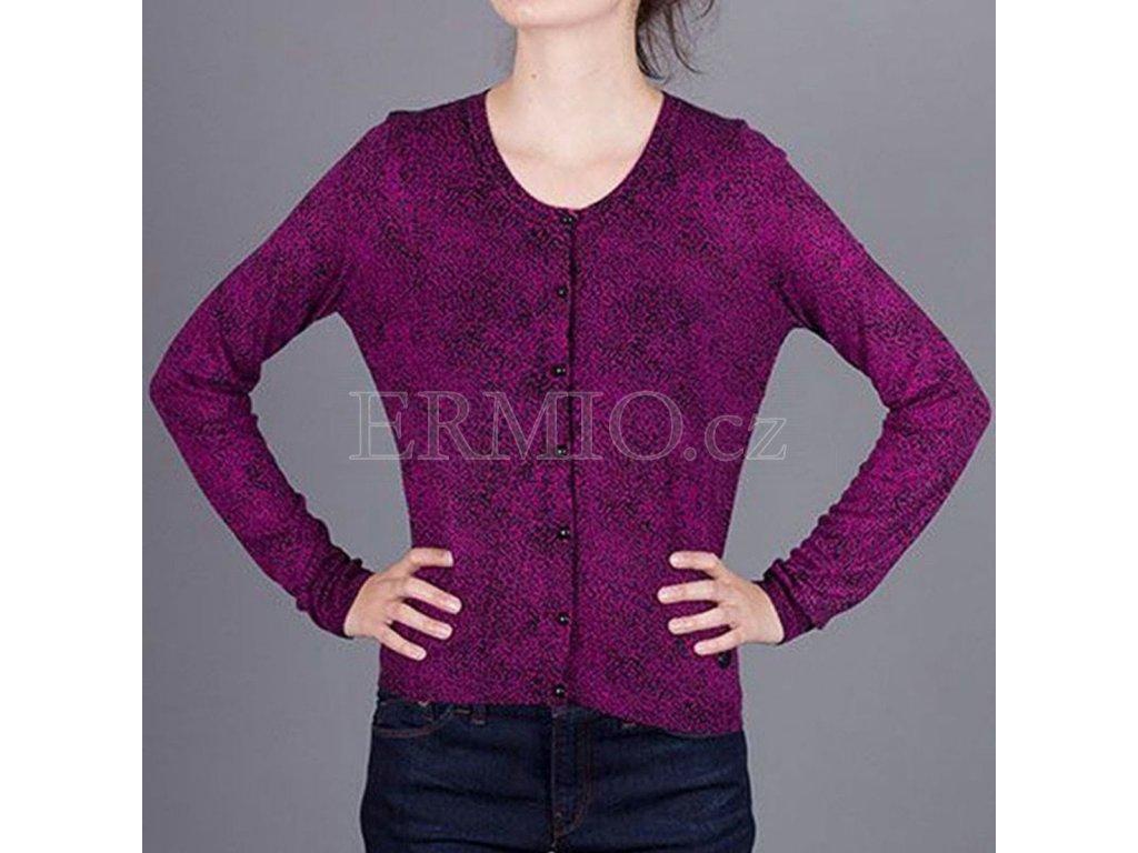 Luxusní dámský fialový svetr Armani Jeans