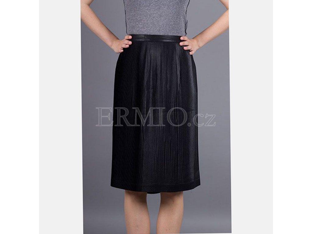 Luxusní Plisovaná sukně Armani černá v e-shopu   Ermio Fashion f750be328c