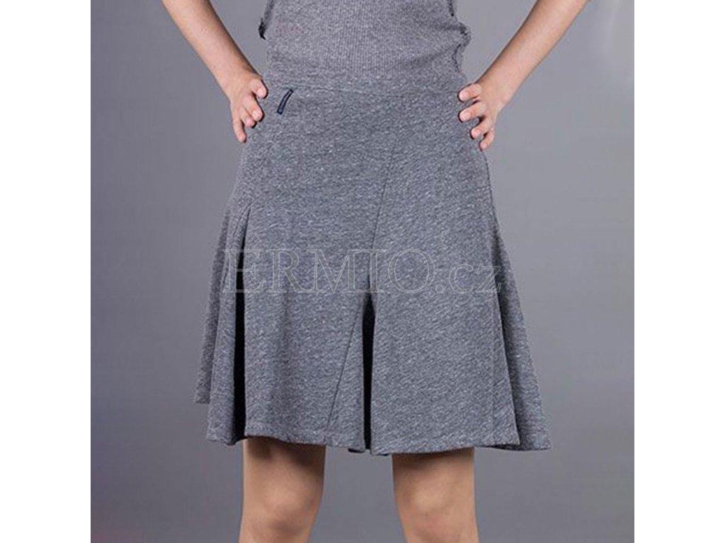 Značková sukně Armani šedá