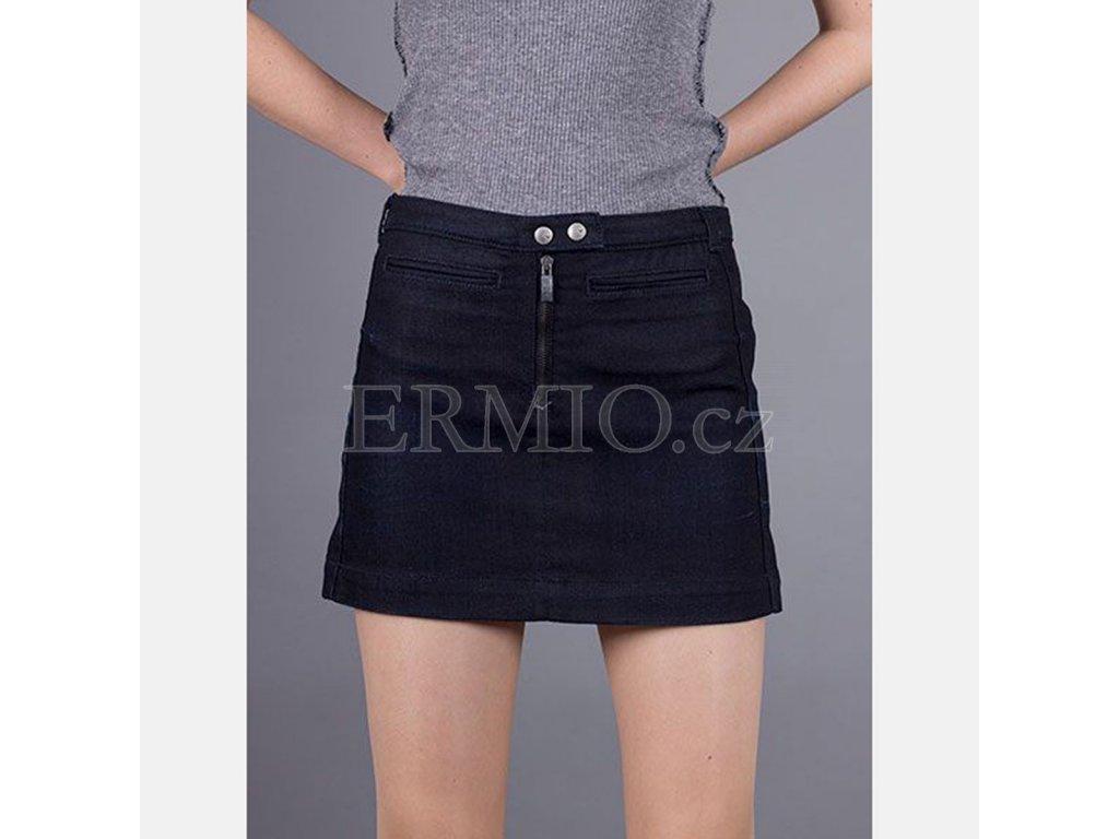 Luxusní Džínová tmavě modrá sukně Armani v e-shopu   Ermio Fashion 7c8f3c098a