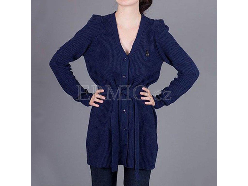 Dámský tmavě modrý značkový svetr Armani