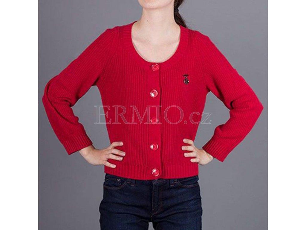 Značkový červený dámský svetr Armani