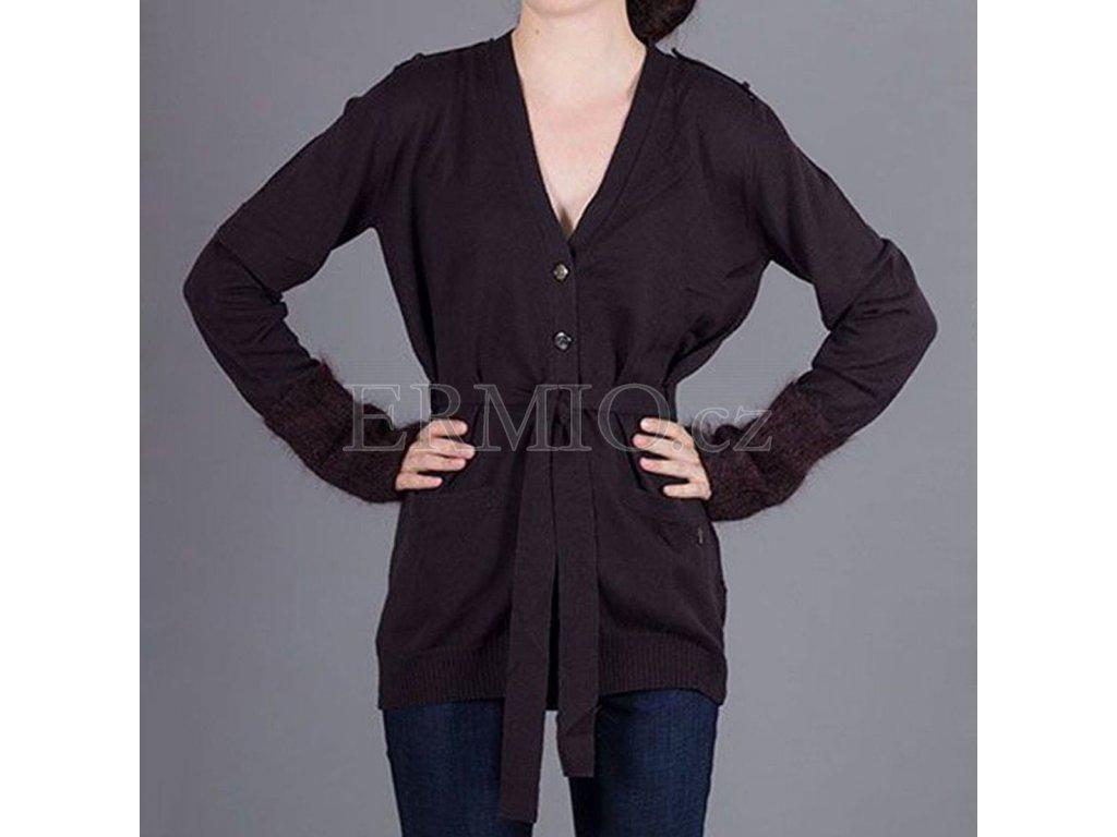 Dámský značkový hnědý svetr Armani