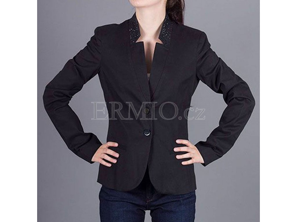 Luxusní Dámské černé sako Armani Jeans v e-shopu   Ermio Fashion d9126e2f91