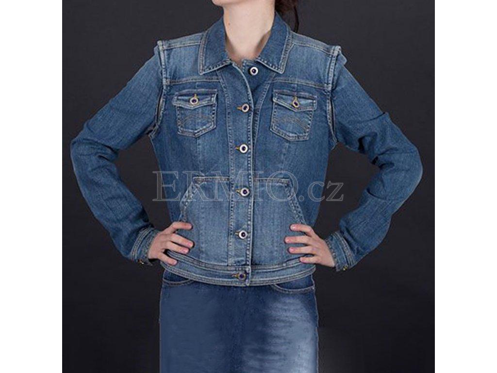 Stylová riflová bunda Armani modrá