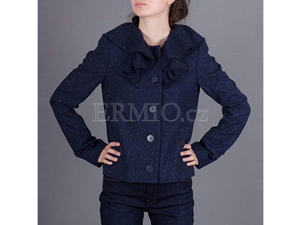 Tvídový kabátek s volány Armani