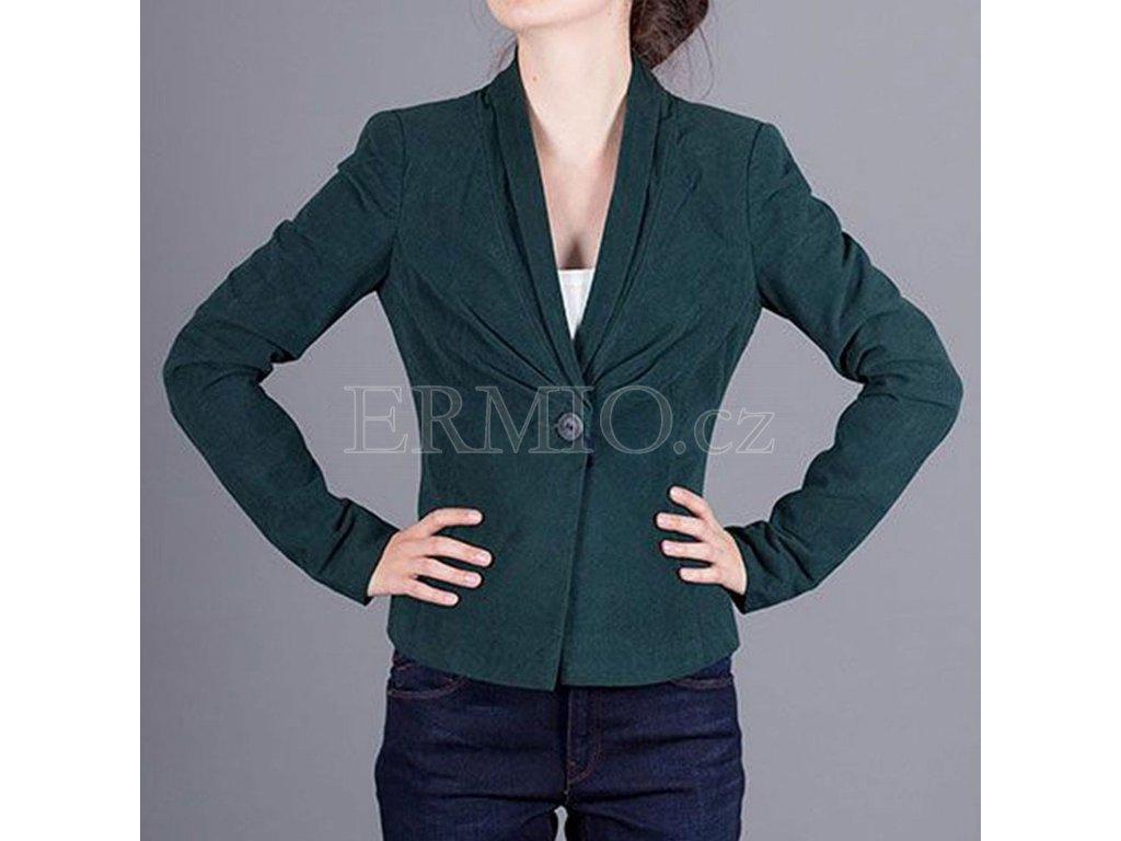 Luxusní zelené sako Armani Jeans