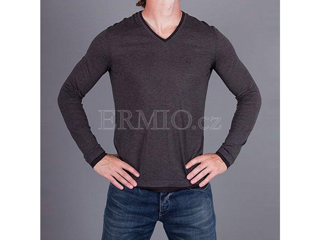Šedé tričko Armani Jeans