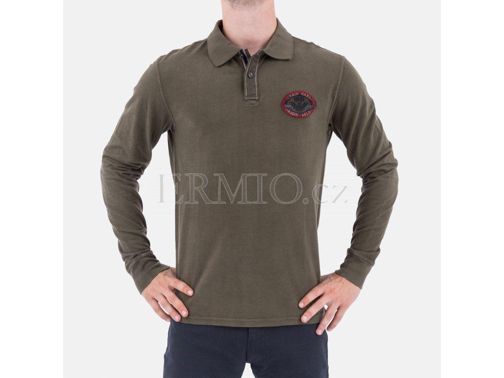 Zelené polo tričko Armani Jeans
