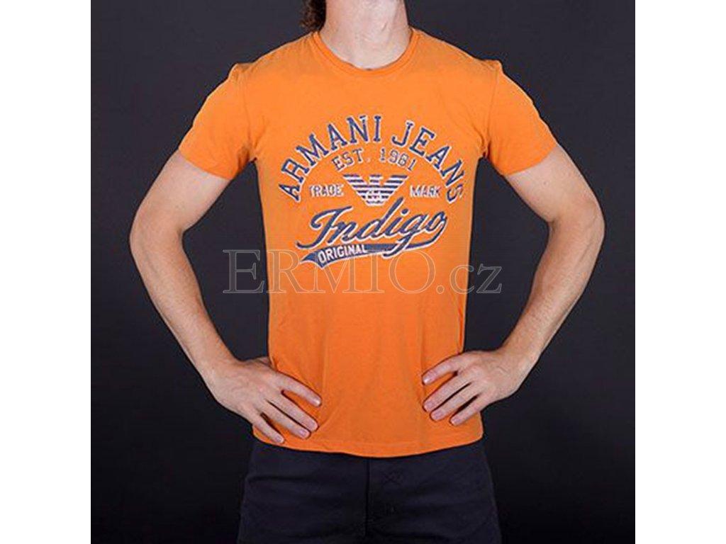 Pánské oranžové tričko Armani Jeans