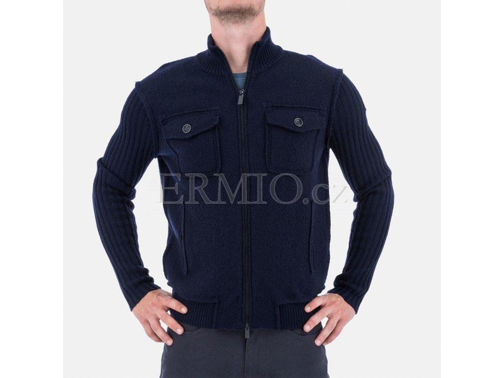 Luxusní modrá pánská bunda Armani