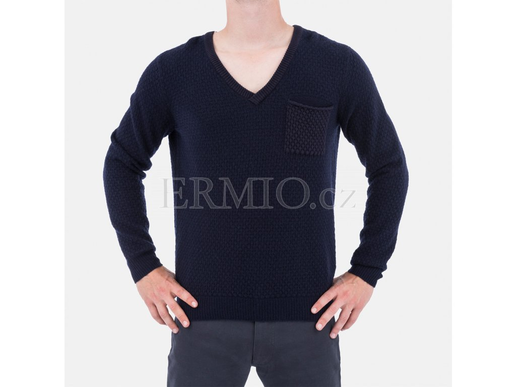 Modrý značkový svetr Armani Jeans