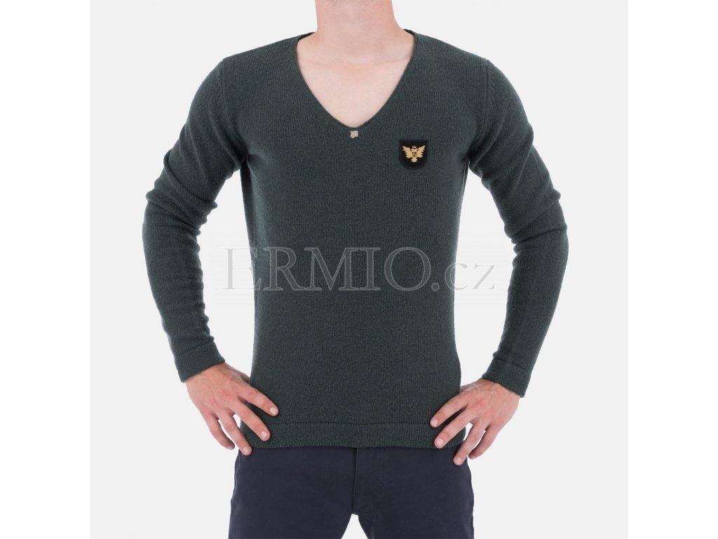 Pánský zelený značkový svetr Armani