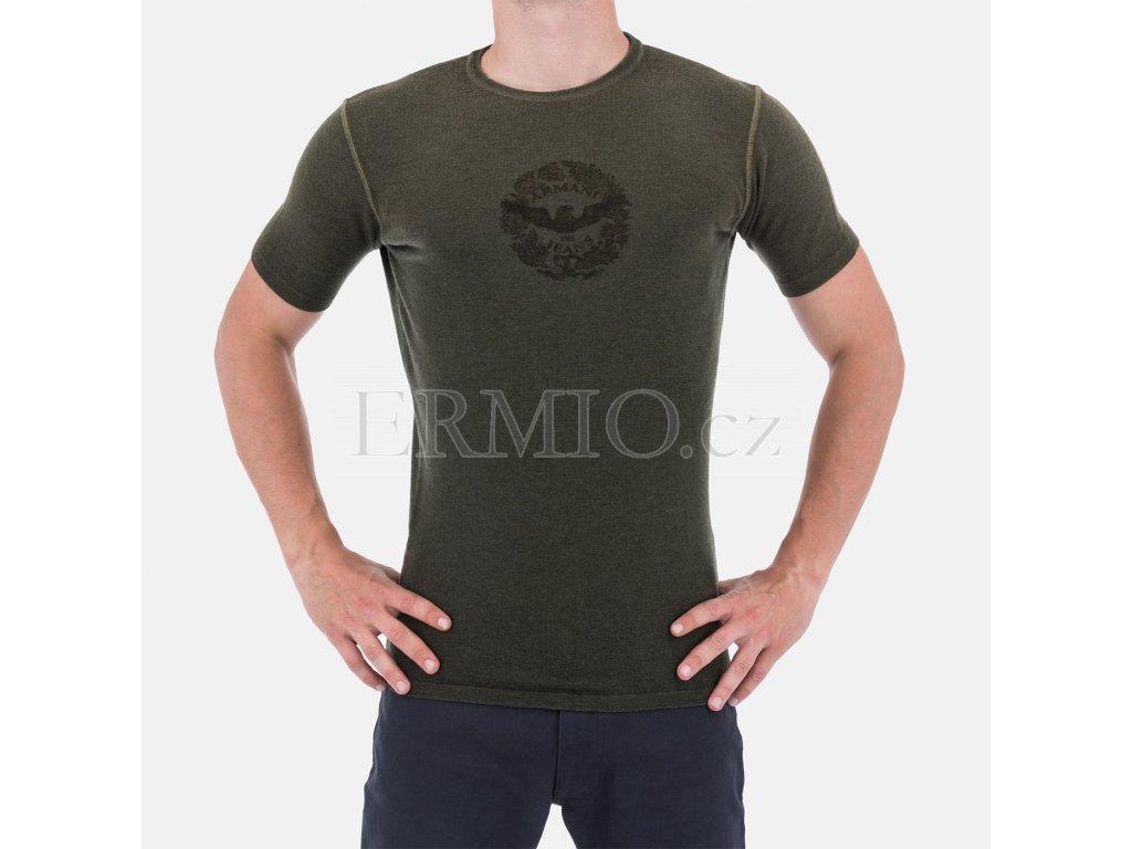 Pánský značkový zelený svetr Armani