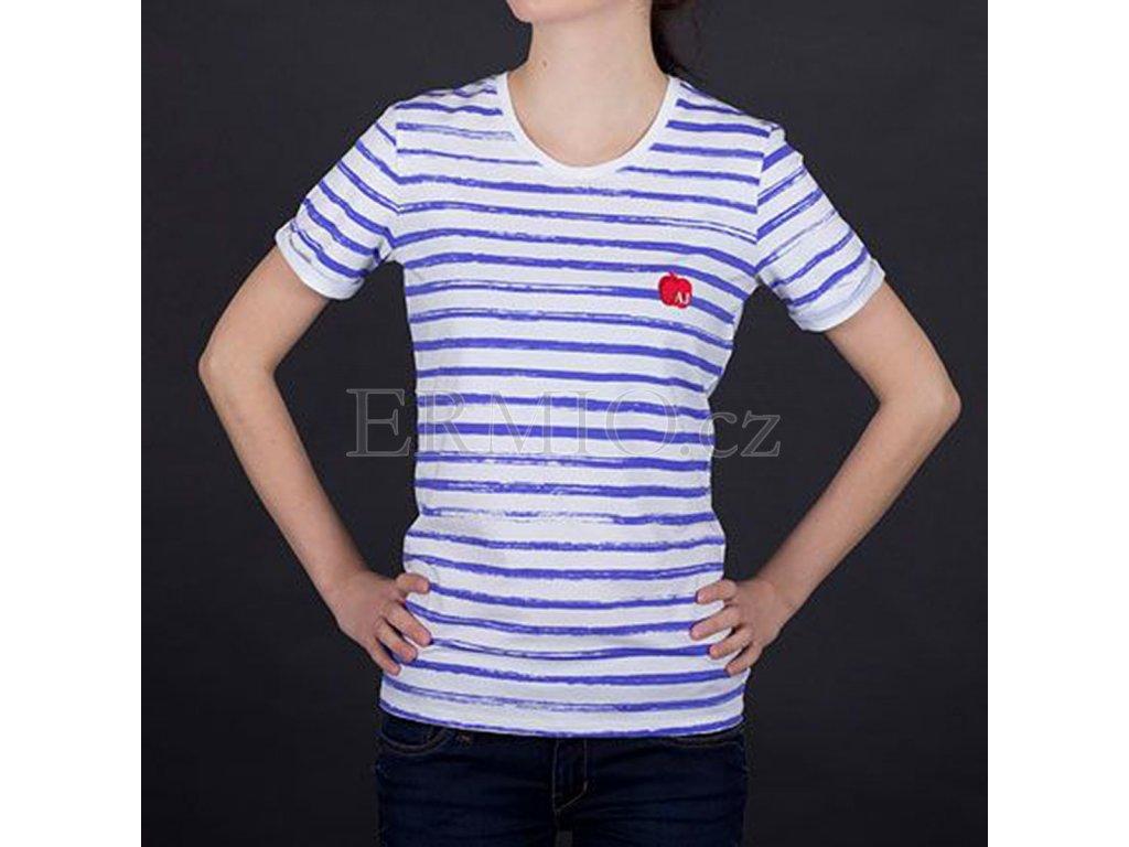 Luxusní Půvabné dámské tričko Armani pruhované v e-shopu   Ermio Fashion ec846d576f