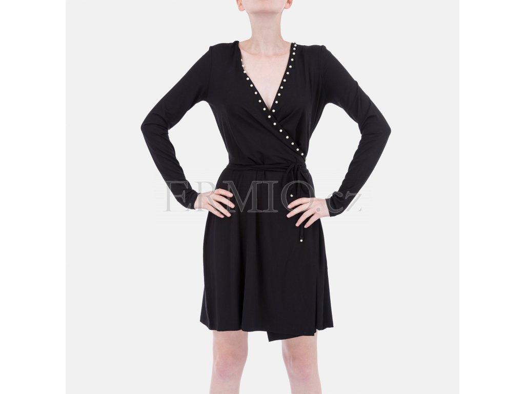 Značkové černé šaty Armani