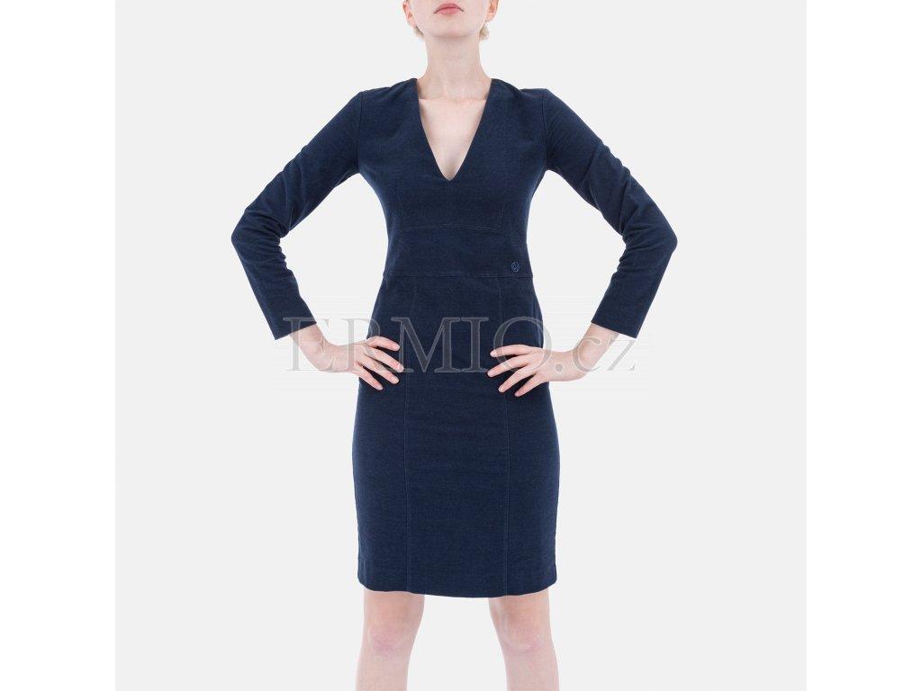 Značkové modré šaty Armani