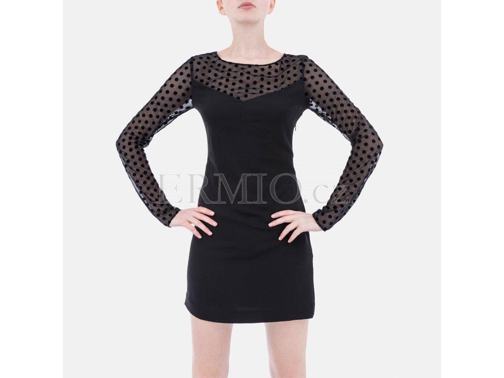 Luxusní černé šaty Armani Jeans