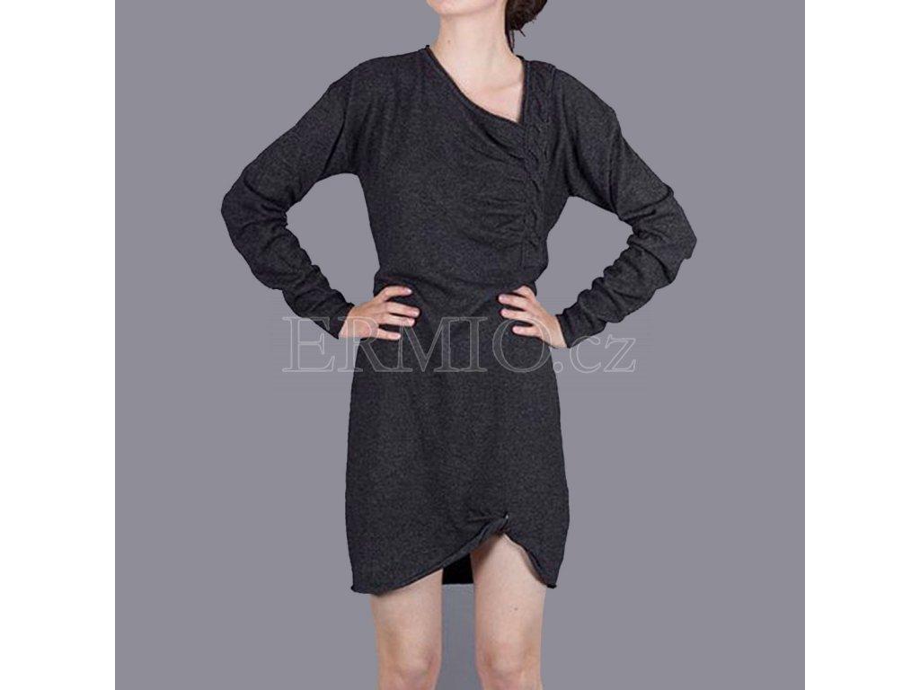 Značkové šedé šaty Armani Jeans